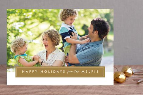 Modern Family Frame Christmas Photo Cards