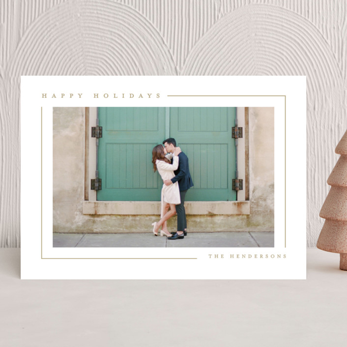 """Simply Serene"" - Christmas Photo Cards in Gingerbread by Lauren Chism."