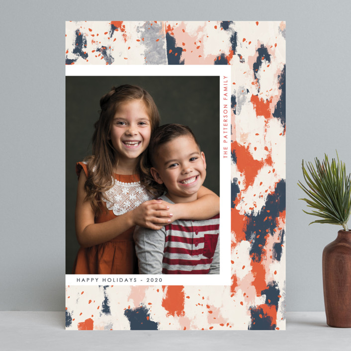 """""""Festivities"""" - Christmas Photo Cards in Midnight by Gwen Bedat."""
