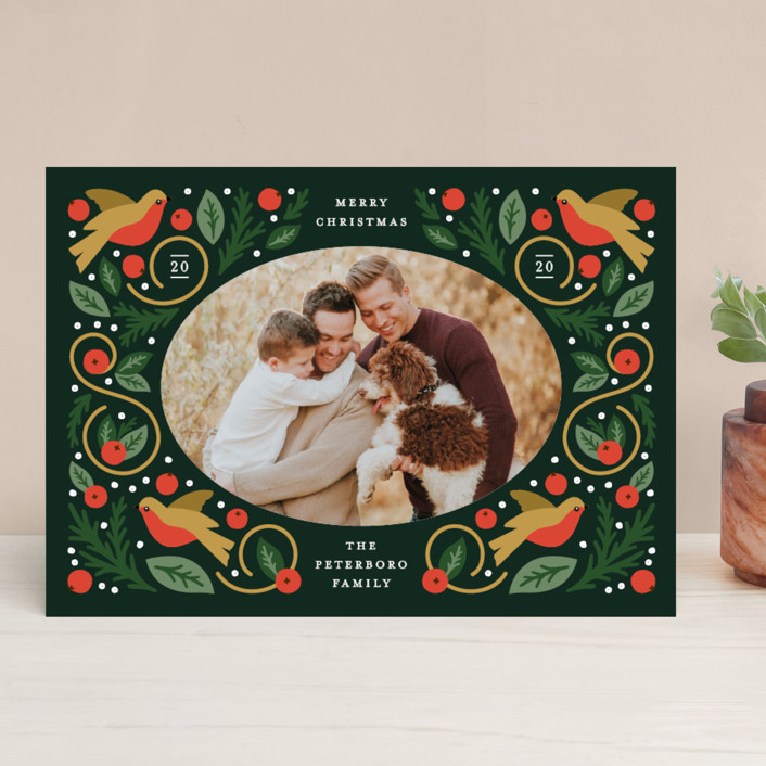 Folk Frame Holiday Cards