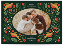 This is a green photo christmas card by Genna Blackburn called Folk Frame with standard printing on smooth signature in standard.