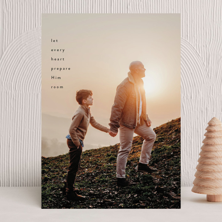 """""""Every Heart"""" - Christmas Photo Cards in Noir by Sandra Picco Design."""