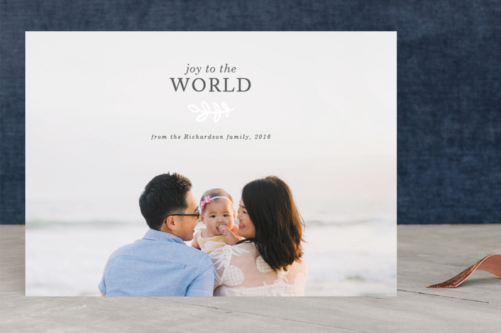 """Let there be peace"" - Christmas Photo Cards in Smokey by Seven Swans."