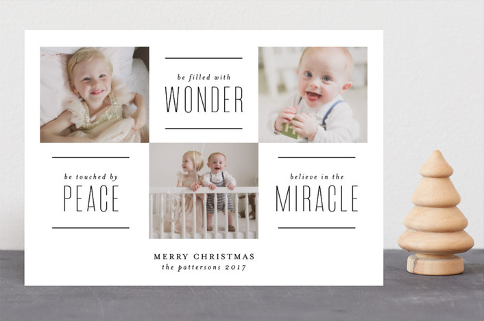 """The Miracle of Christmas"" - Christmas Photo Cards in Vanilla by Lehan Veenker."