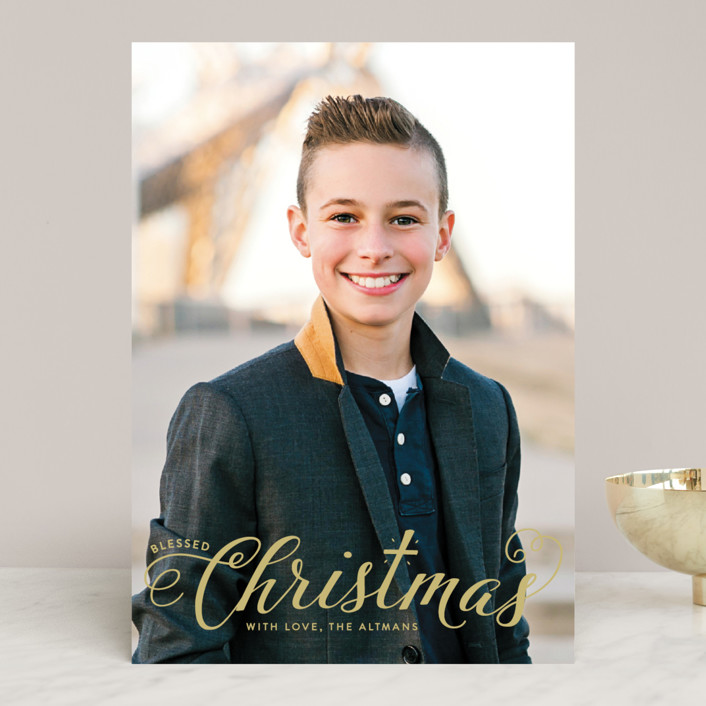 """Blessed Christmas"" - Christmas Photo Cards in Snow by Ellis."