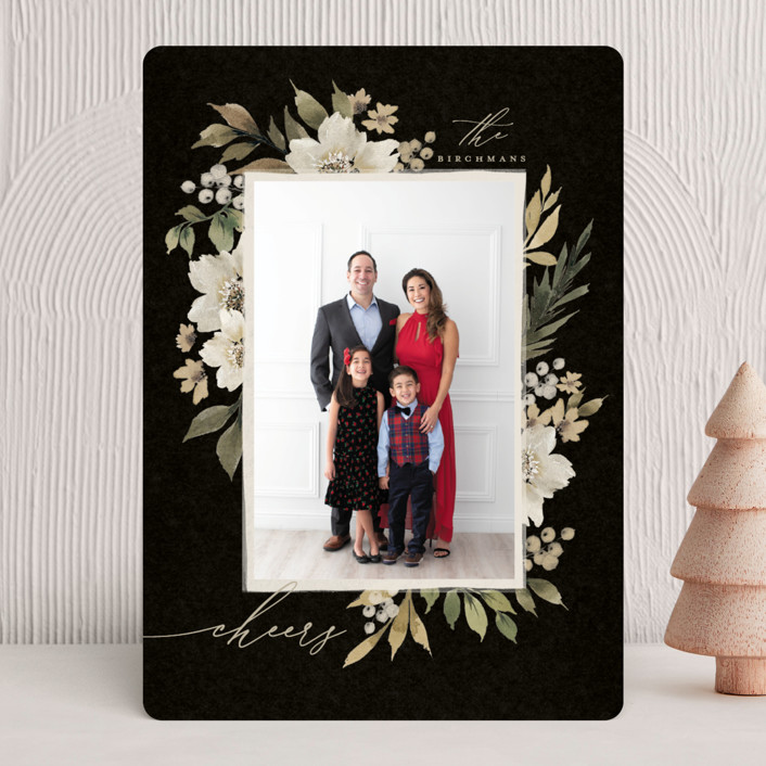 """""""Mistletoe"""" - Christmas Photo Cards in Midnight by Wildfield Paper Co."""