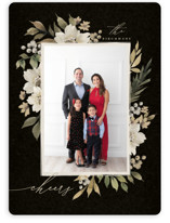 This is a black photo christmas card by Wildfield Paper Co called Mistletoe with standard printing on smooth signature in standard.