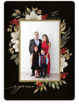 This is a red photo christmas card by Wildfield Paper Co called Mistletoe with standard printing on smooth signature in standard.