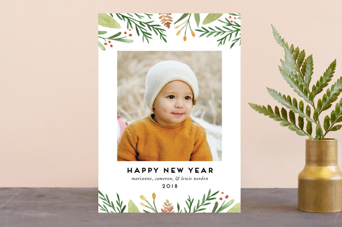 """""""Golden Berries"""" - Christmas Photo Cards in Forest by Amy Kross."""