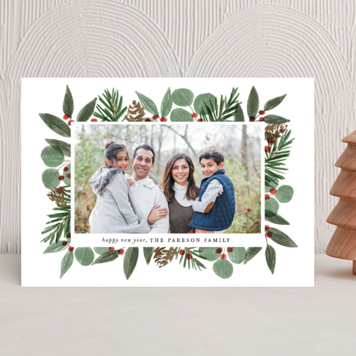 """""""Festive Holiday Foliage"""" - Christmas Photo Cards in Snow by Brooke Chandler."""