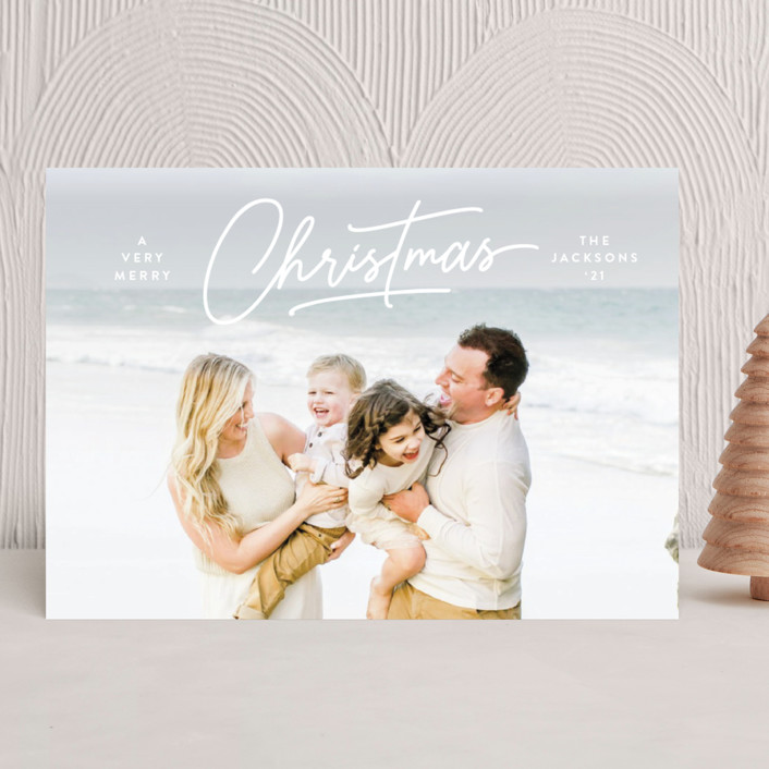 """""""Dashing"""" - Christmas Photo Cards in Snow by Lauren Chism."""