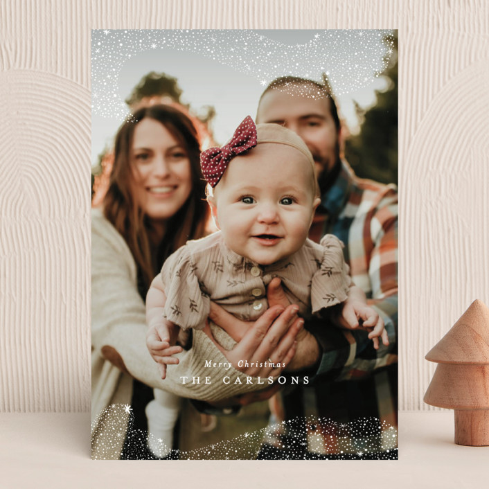 """""""Snowfall"""" - Bohemian Christmas Photo Cards in Winter by Itsy Belle Studio."""