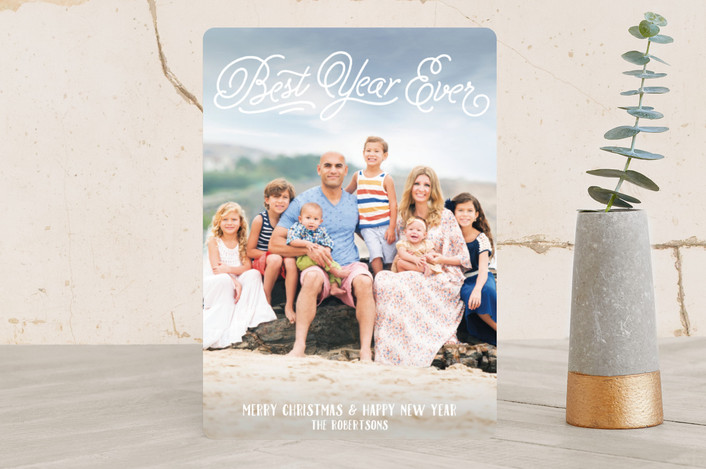 """Great Glory"" - Christmas Photo Cards in White by Jessie Steury."