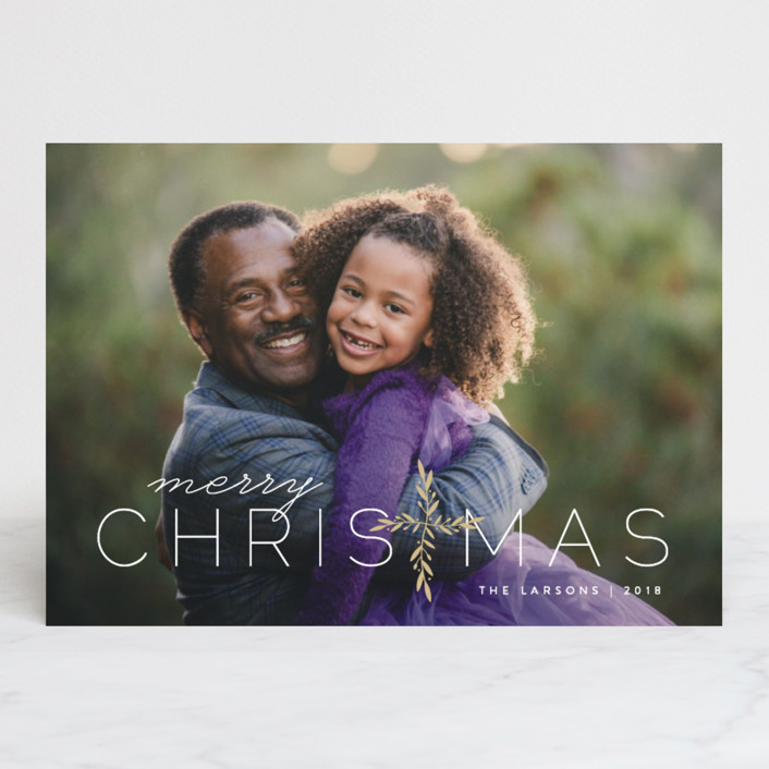 """""""Laurel Cross"""" - Christmas Photo Cards in Frosting by Lauren Chism."""