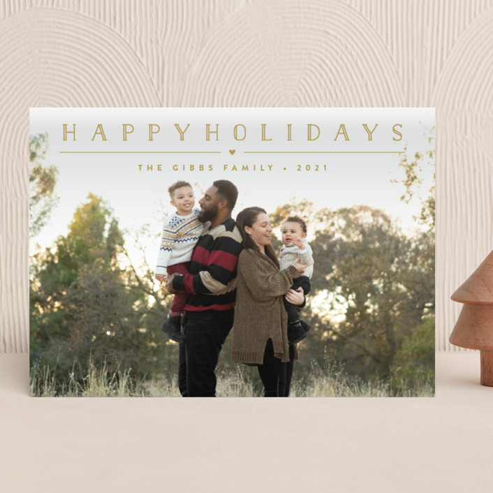 """""""Height of Happiness"""" - Christmas Photo Cards in Golden by Carolyn MacLaren."""