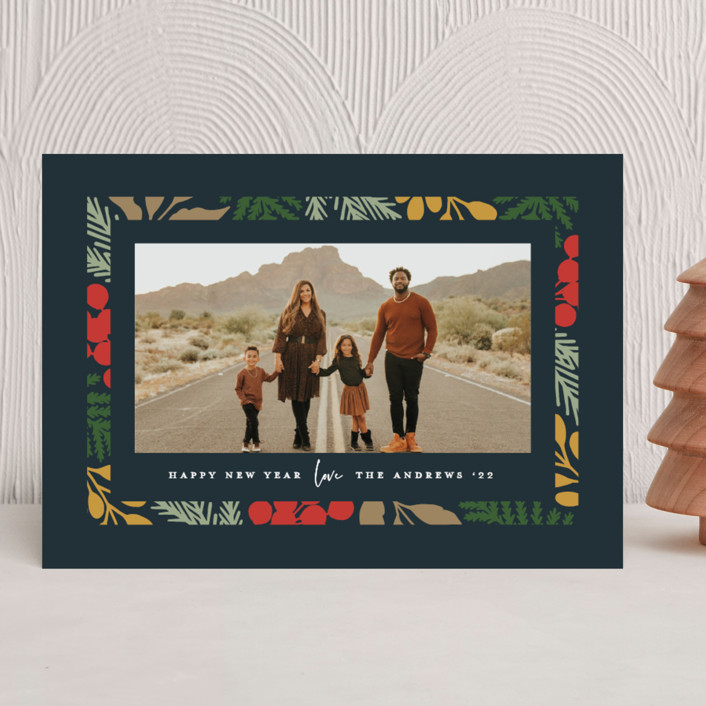 """""""Bright Season"""" - Modern Christmas Photo Cards in Peacock by Michelle Taylor."""