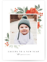 This is a white photo christmas card by Karidy Walker called Festive Bouquet with standard printing on smooth signature in standard.