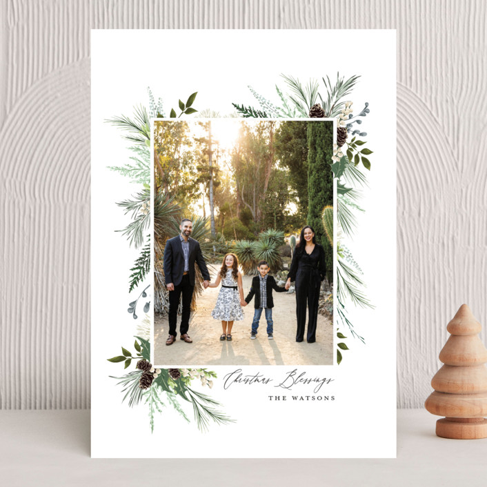 """Nature & Blessings"" - Christmas Photo Cards in Juniper by Susan Moyal."