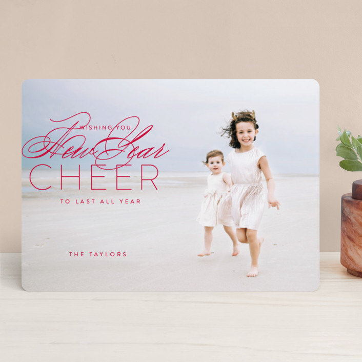 """luke 2:10"" - Christmas Photo Cards in Holly by Guess What Design Studio."