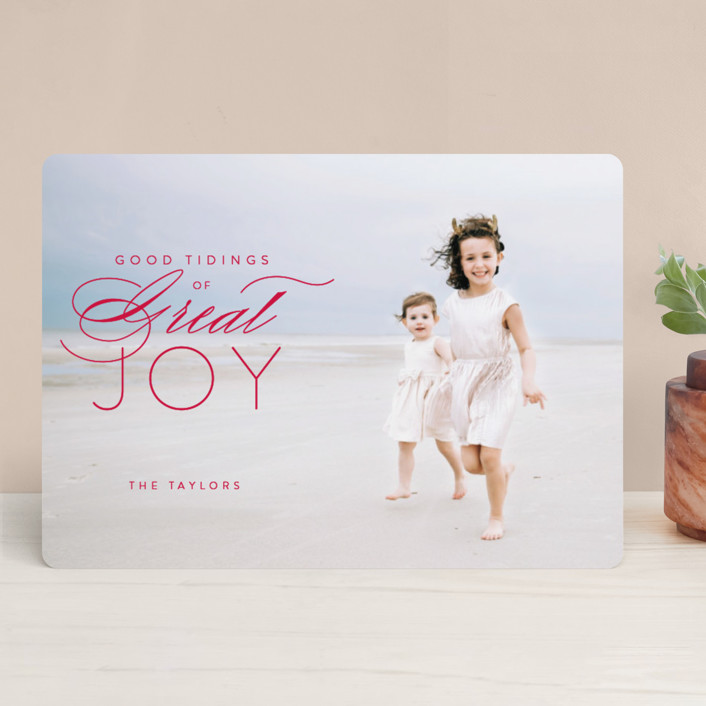 """""""luke 2:10"""" - Christmas Photo Cards in Holly by Guess What Design Studio."""