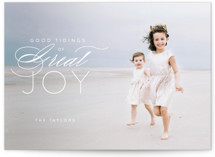 This is a white photo christmas card by Guess What Design Studio called luke 2:10 with standard printing on smooth signature in standard.