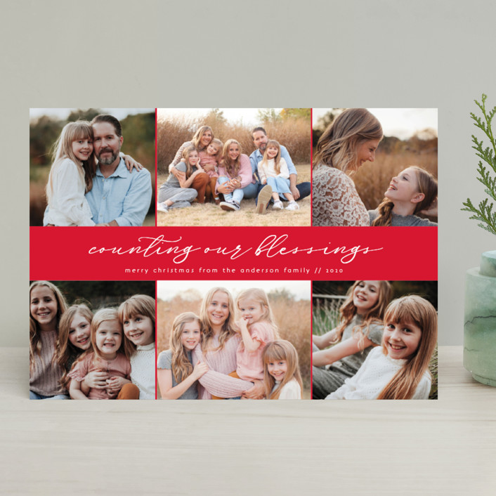 """""""Six pack"""" - Christmas Photo Cards in Candy Cane by Kann Orasie."""
