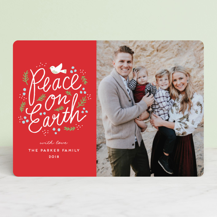 """""""Peaceful Branches"""" - Vintage Christmas Photo Cards in Chalkboard by iamtanya."""