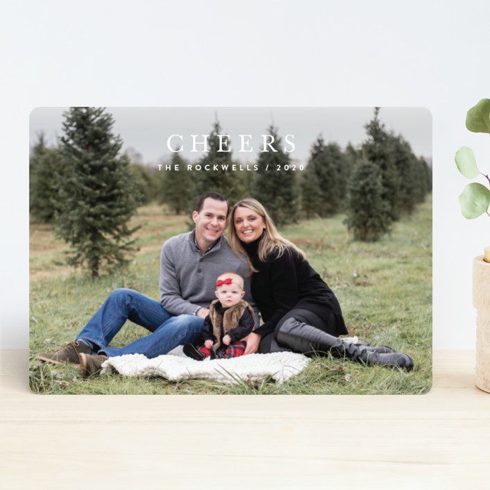 """Minimalist Faith"" - Christmas Photo Cards in Snow by Jennifer Lew."