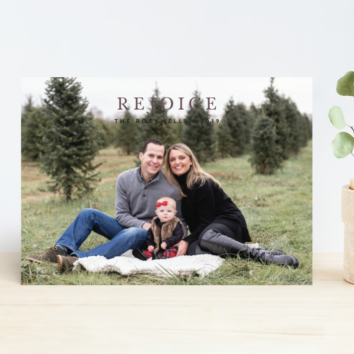 """Minimalist Faith"" - Christmas Photo Cards in Coal by Jennifer Lew."