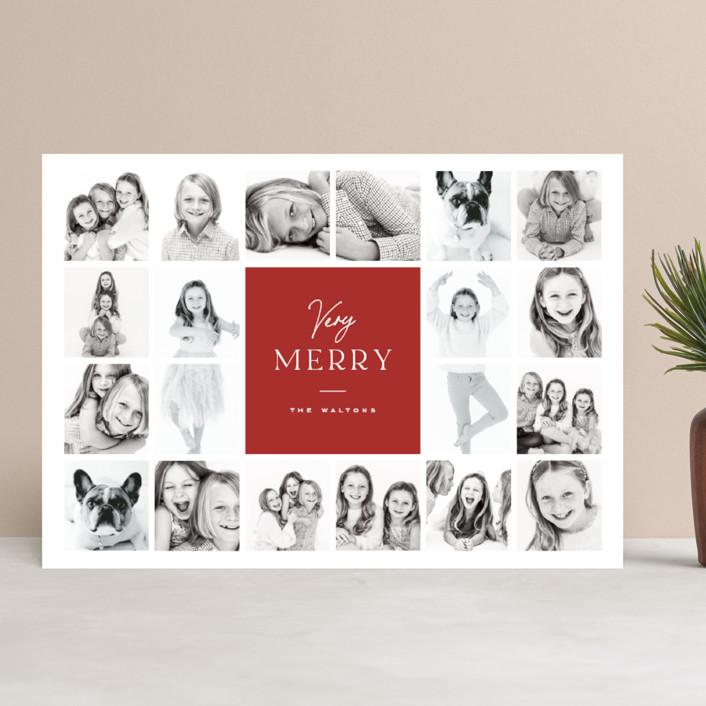 """""""Christmas Sprigs"""" - Christmas Photo Cards in Jet by Coco and Ellie Design."""