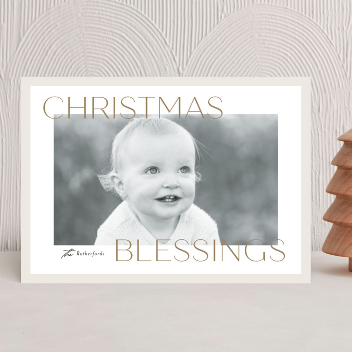 """""""Frosted Blessings"""" - Christmas Photo Cards in Toffee by Jessica Williams."""
