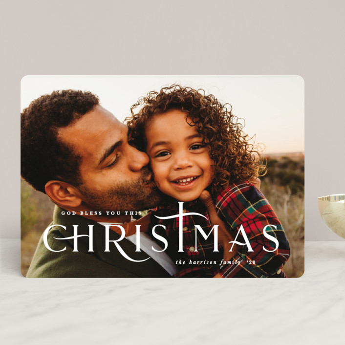 """""""divine"""" - Christmas Photo Cards in Snow by Lauren Chism."""