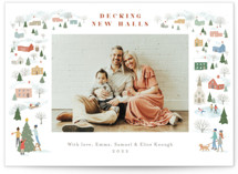 This is a white photo christmas card by Jennifer Wick called Winter Village with standard printing on signature in standard.