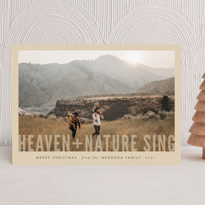 """Heaven + Nature"" - Christmas Photo Cards in Cream by Pistols."