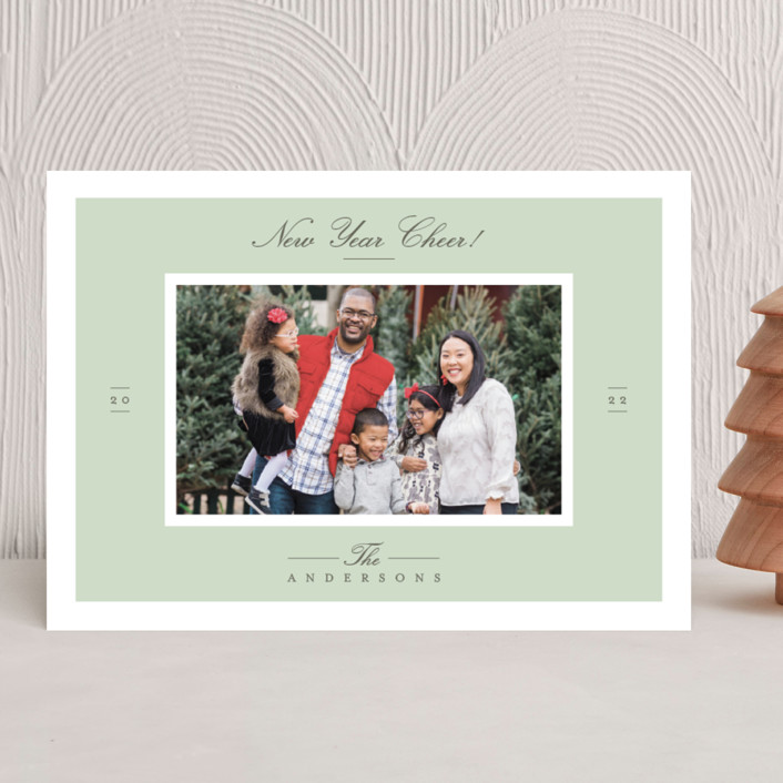 """""""Effortless Charm"""" - Christmas Photo Cards in Mist by Tatiana Nogueiras."""