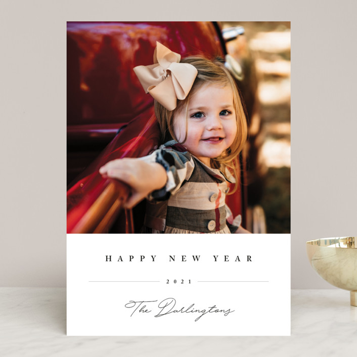 """""""Sweet Signature"""" - Christmas Photo Cards in Onyx by Chryssi Tsoupanarias."""