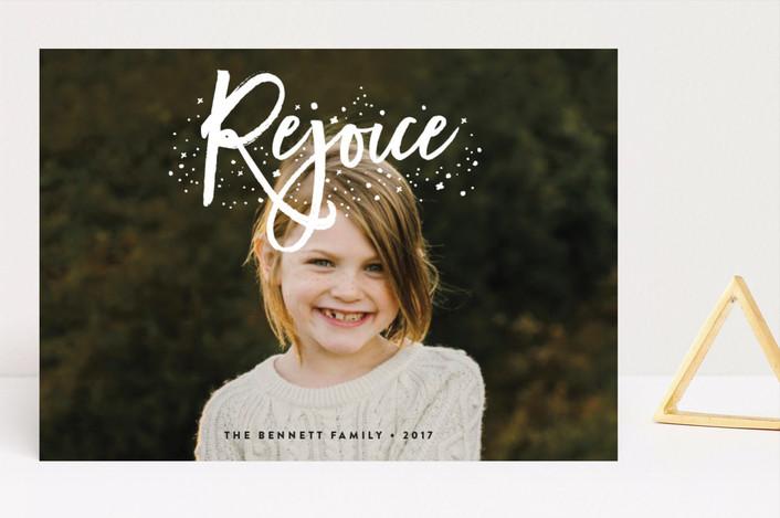 """""""Rejoice"""" - Christmas Photo Cards in Snow by Erica Krystek."""