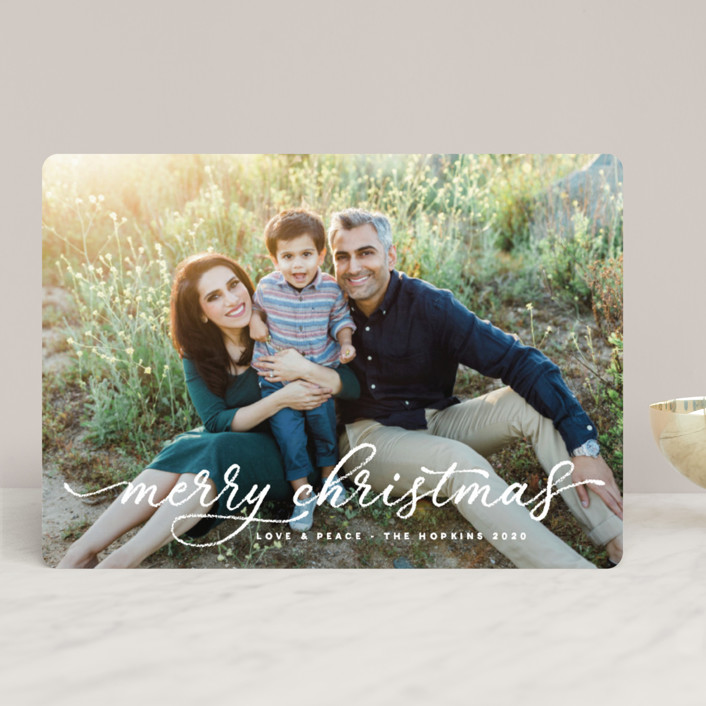 """""""fond memories"""" - Christmas Photo Cards in Snow by Design Lotus."""