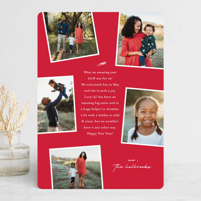 """""""Take Note"""" - Christmas Photo Cards in Ruby by Lauren Chism."""