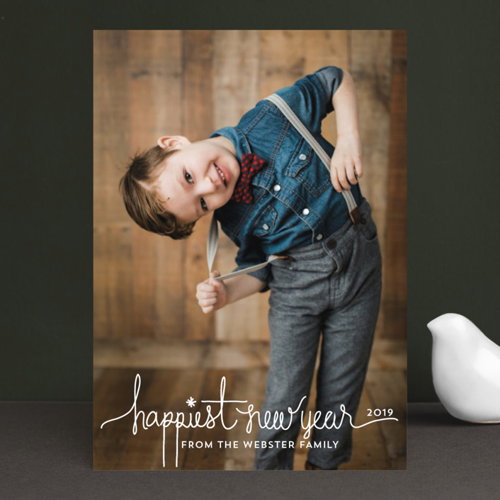 """Holiday Revelry"" - Christmas Photo Cards in Frost by Design Lotus."