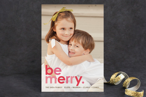 Cherry Merry Christmas Photo Cards
