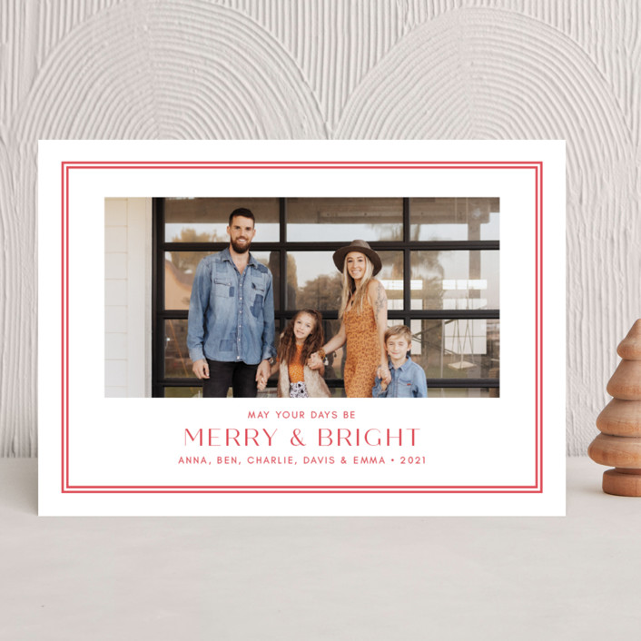 """""""Folly"""" - Christmas Photo Cards in Peppermint by Toast & Laurel."""