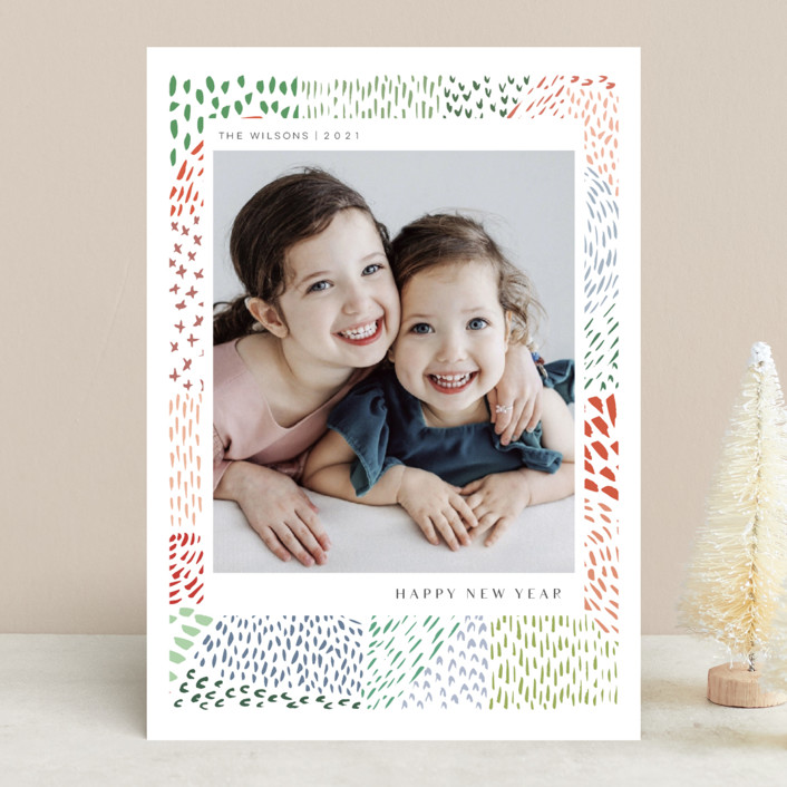 """Merry Marks"" - Christmas Photo Cards in Holly by Kelly Ventura."