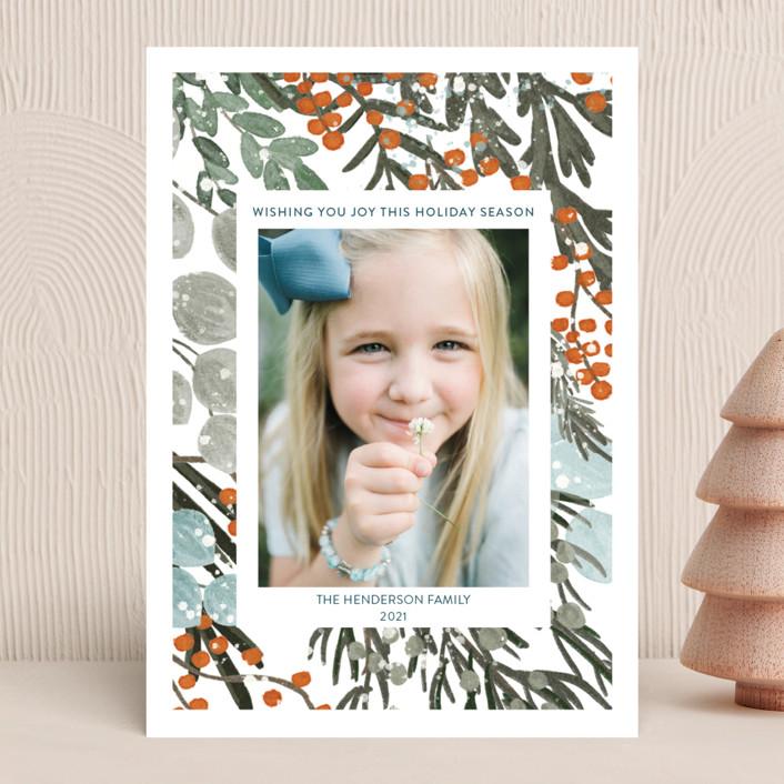 """Vintage Winterberry"" - Christmas Photo Cards in Vintage by Angel Walker."