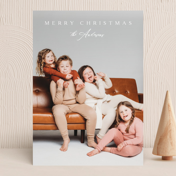 """""""Classical"""" - Christmas Photo Cards in Snow by Kasia Labocki."""