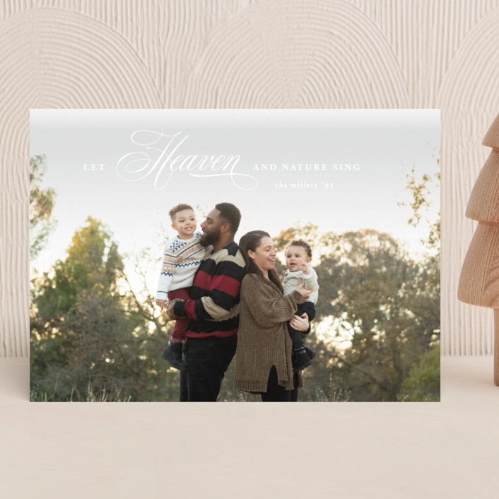 """Let Heaven Sing"" - Christmas Photo Cards in Cloud by Ashlee Townsend."