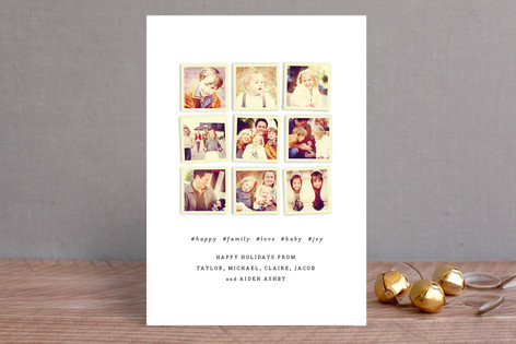 Insta-grid Christmas Photo Cards