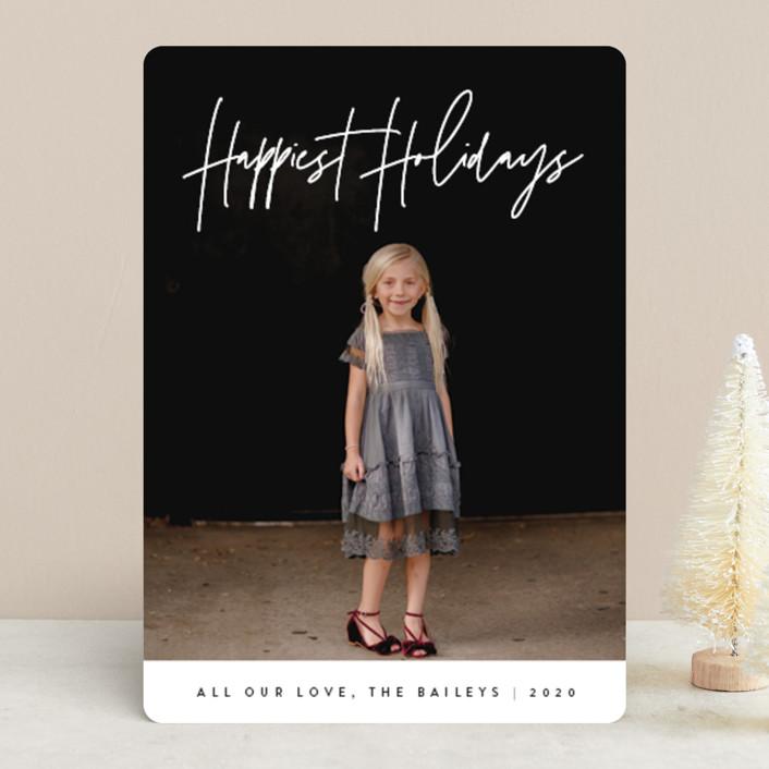 """headline"" - Christmas Photo Cards in Snow by JoAnn Jinks."