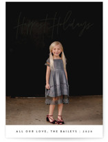 This is a black photo christmas card by JoAnn Jinks called headline with standard printing on smooth signature in standard.