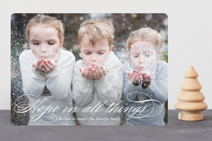 """Hopeful"" - Christmas Photo Cards in Snow by Jessica Williams."